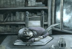 the sleeping writer by Merida 300x204 Sleepaholics