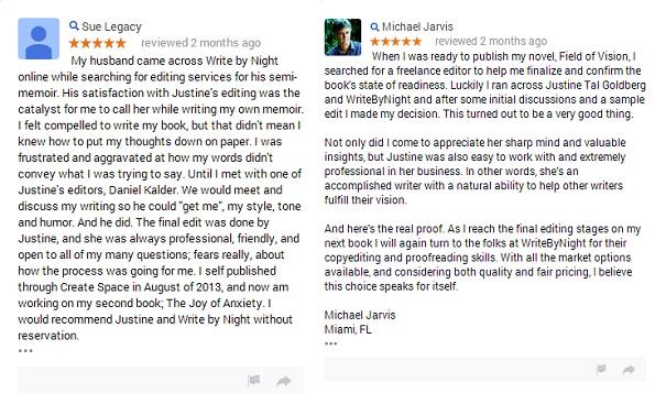 Editing Reviews on Google Plus