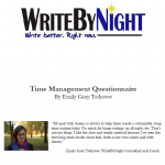 Time Management Questionnaire